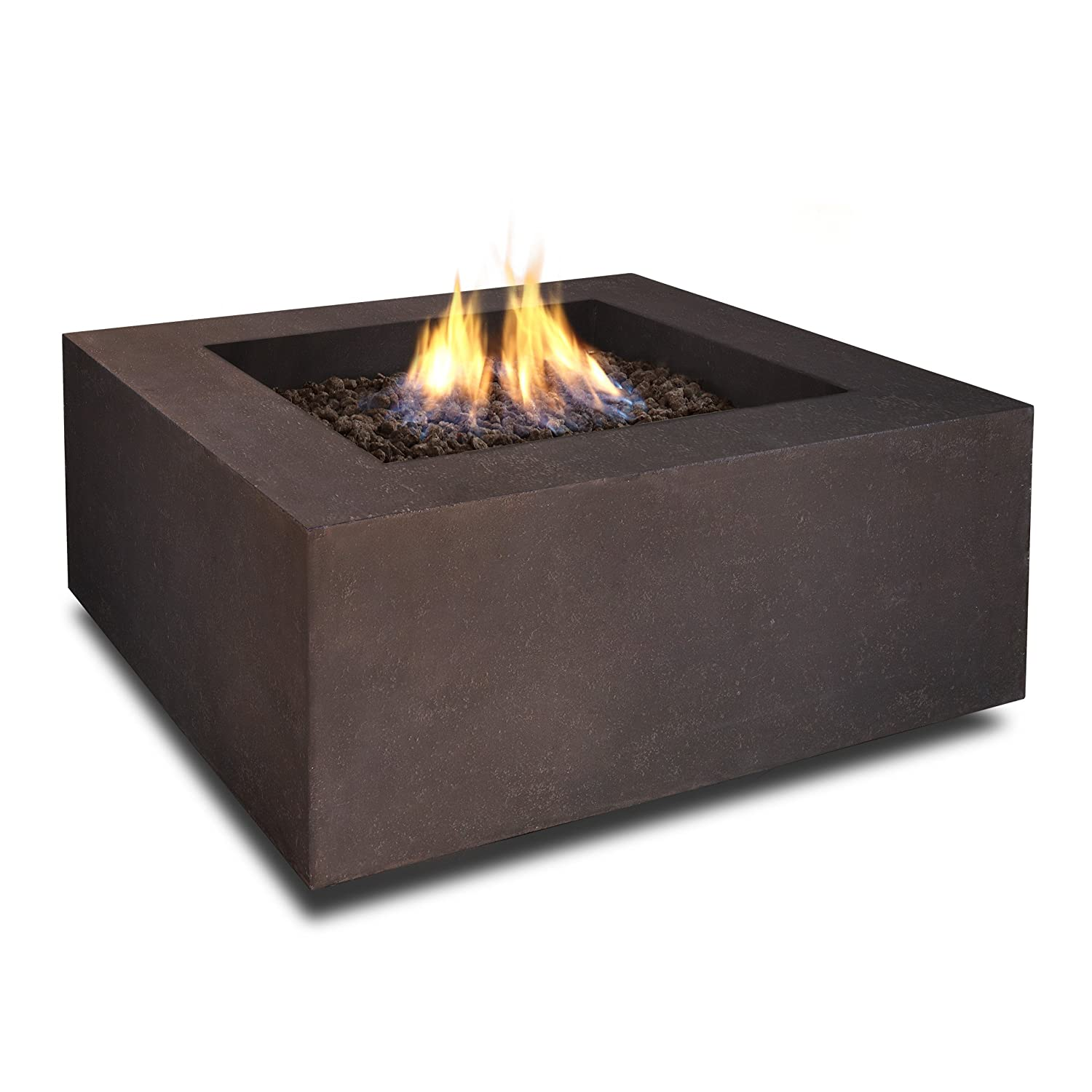 Amazon.com: Real Flame T9620LP Baltic Square Propane Fire Table, Kodiak  Brown: Garden U0026 Outdoor