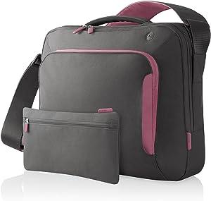 Belkin Neoprene Messenger Bag for Notebooks up to 15.4-Inch Soft Grey/Flamingo Pink