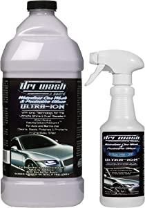 Dri Wash 'n Guard Ultra-Ion 64oz Waterless Car Wash w/Empty Spray Bottle