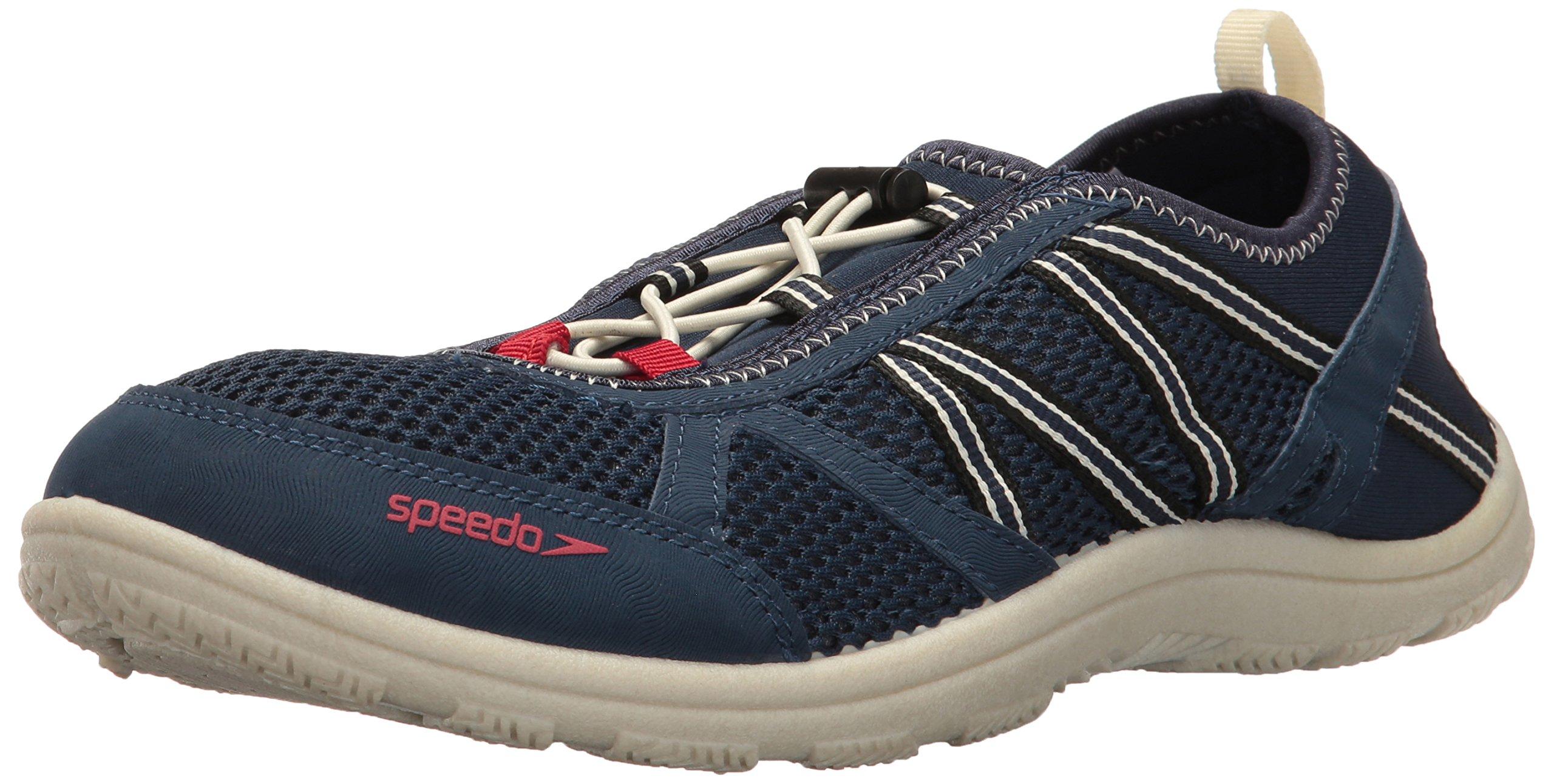 Speedo Men's Seaside LACE 5.0 Athletic Water Shoe, Insignia Blue/Bone White, 10 by Speedo