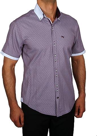 HK Mandel Slim Fit City Camisa con botones Down Cuello Doble ...