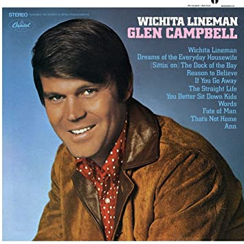 Image result for Wichita Lineman Glen Campbell images