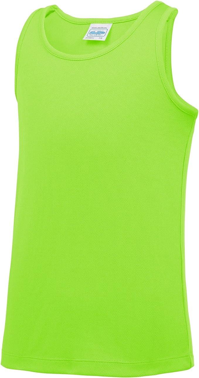 AWDis Just Cool Childrens//Kids Plain Sleeveless Vest Top