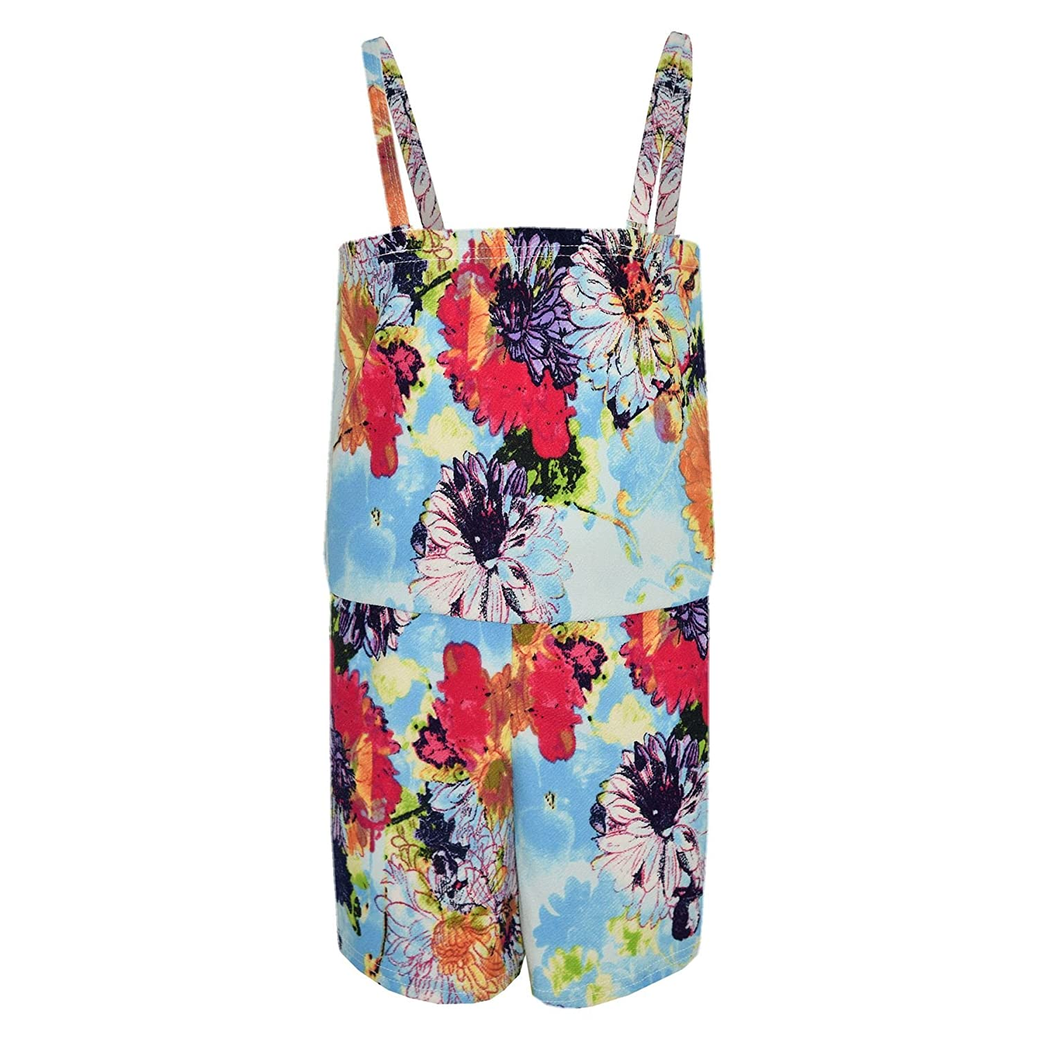 A2Z 4 Kids/® Girls Playsuit Floral Print Jumpsuit All in One Playsuits 7-13 Year