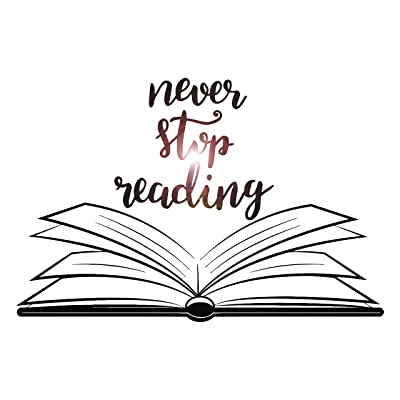 Large Vinyl Wall Decal Open Book Quote Reading Room Library Decor Stickers Mural