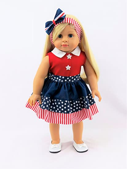 a58c30114fdb Amazon.com  4th of July Stripe Dress -Fits 18