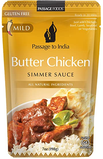 Passage Foods To India, Butter Chicken Simmer Sauce, 6 Count