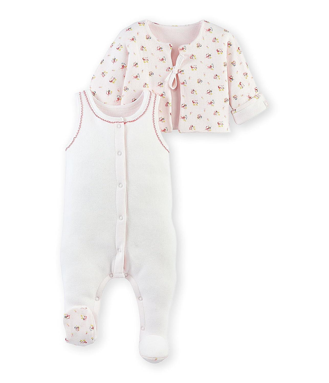 Petit Bateau Baby-Mädchen Bekleidungsset Ens Db Sm+Vest Rev