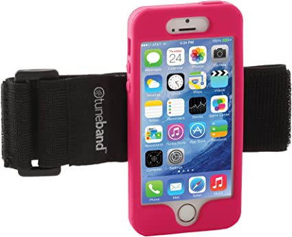 TuneBand for iPhone 5S, Premium Sports Armband with Two Straps and Two Screen Protectors (Pink): Amazon.es: Electrónica