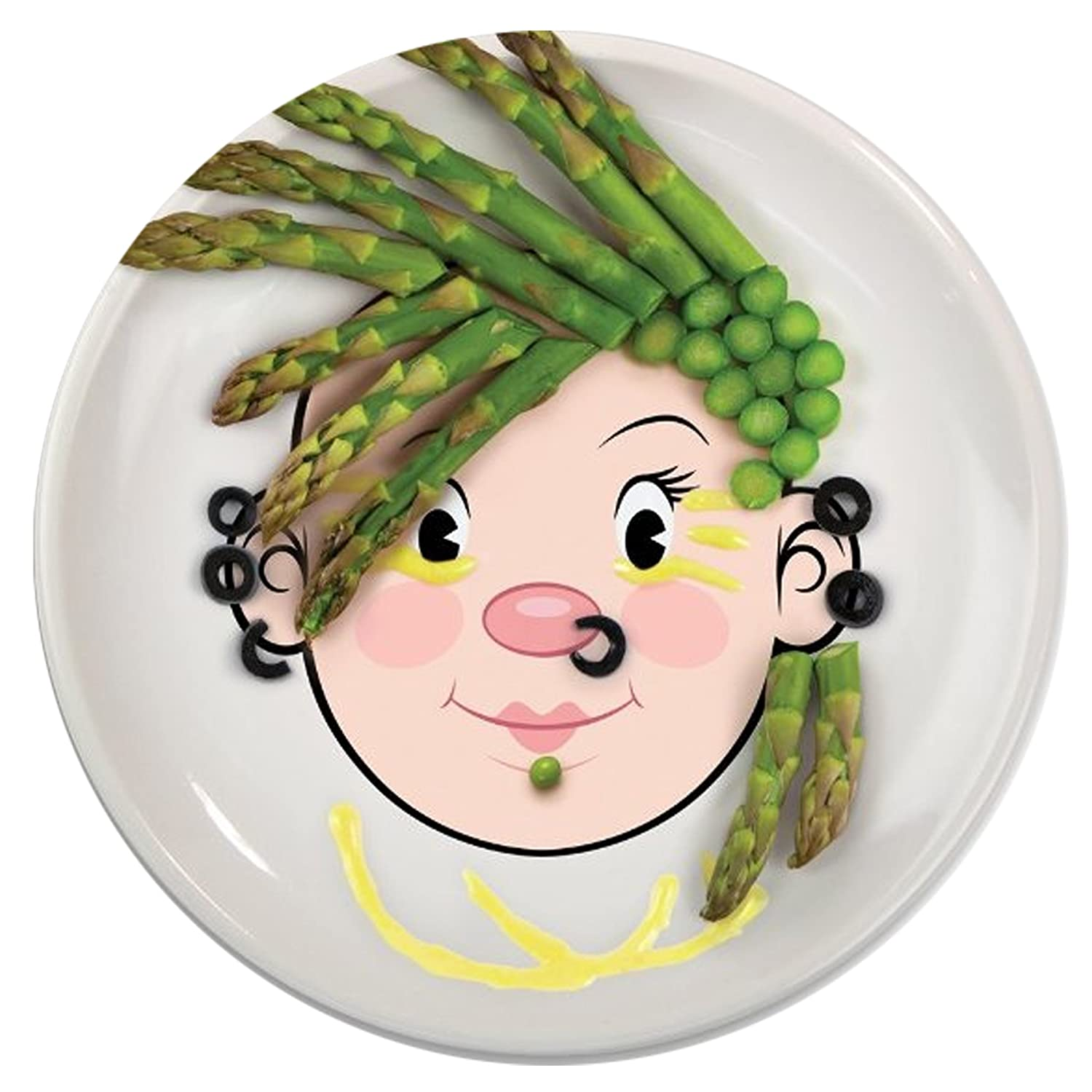 Fred And Friends CA Food Face Girl Dinner Plate Amazonca Home Kitchen