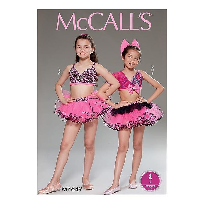 McCall \'s Patterns CHJ Mädchen Tops/Röcke und Haar Schleife ...