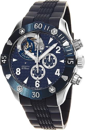 Zenith Reloj de hombre automático correa de silicona 03.0529.4035/51.R674: Zenith: Amazon.es: Relojes