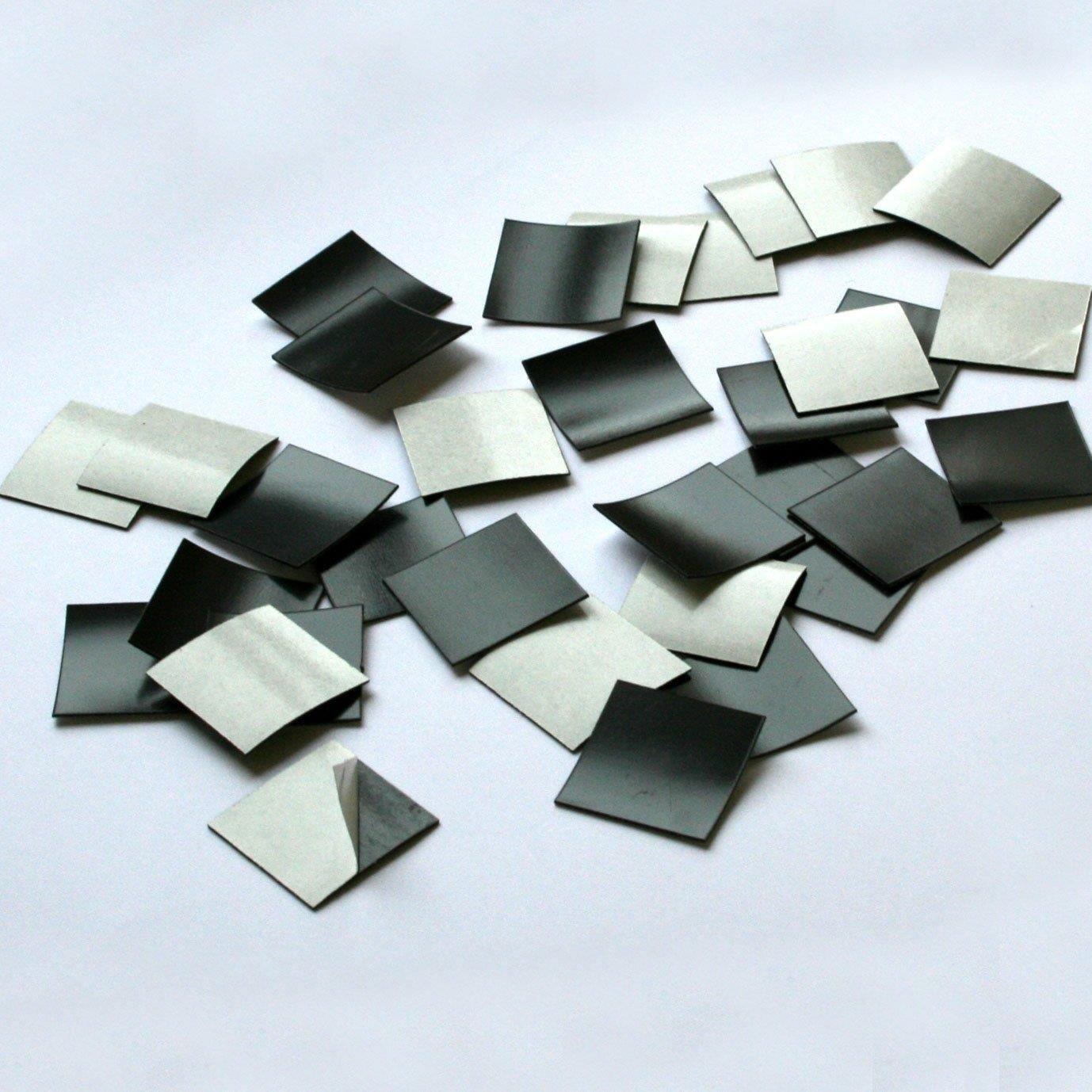 100er Set Magnet-Plättchen selbstklebend MAGSTICK I mag_001 I Größe 2x2 cm I roh I für Foto Postkarte Poster Notizen I diy Kühlschrank-Magnet easydruck24de