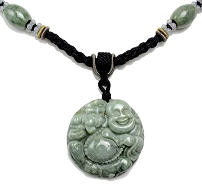 Life in joy happy buddha with fortune tiger carved jade pendant life in joy happy buddha with fortune tiger carved jade pendant necklace fortune jade mozeypictures Gallery