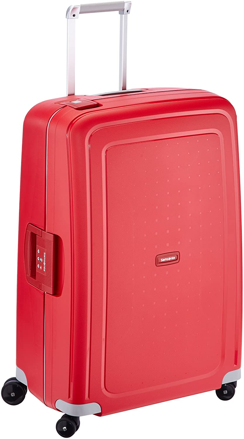 Samsonite S'Cure Spinner L Maleta, 75 cm, 102 L, Rojo (Crimson Red)
