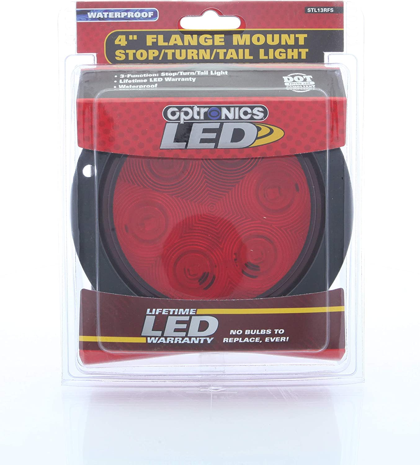 Red Optronics STL13RFS Fleet Count FLEET Count 4 Round Sealed LED STOP//Turn//Tail//Light