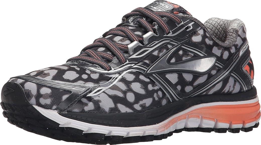 Brooks - Ghost 8 para Mujer, Negro (ébano/Plateado metálico/Coral fusión), 5.5 B(M) US: Amazon.es: Zapatos y complementos