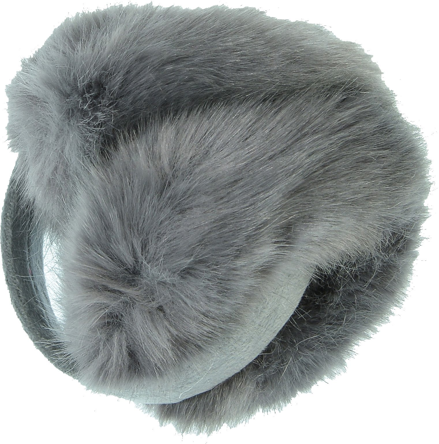 Hand By Hand Aprileo Unisex Solid Earmuff Ear Warmer Faux Fur Warmth Fuzzy [Gray.](One Size)