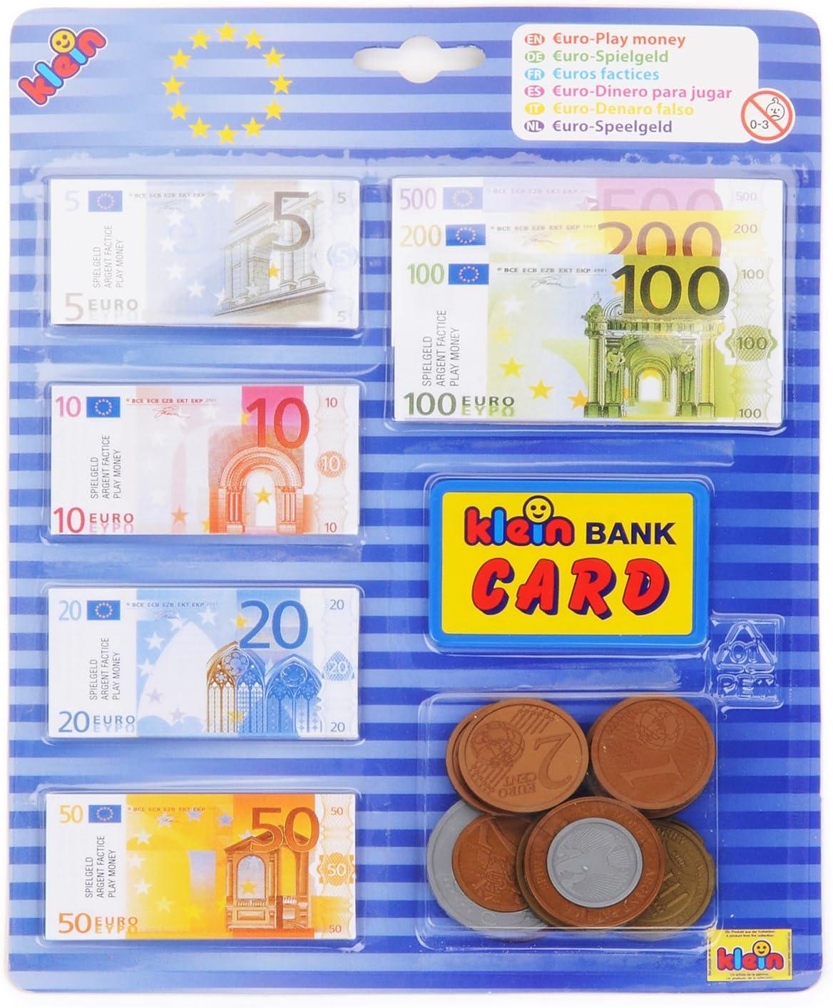 Theo Klein-9605 Euro Dinero para Jugar, Juguete, Multicolor (9605)