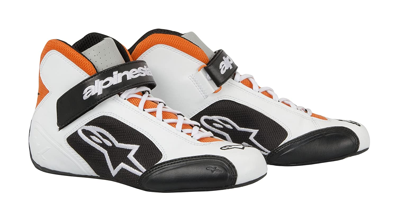 Alpinestars 2712013-241-5 White//Orange//Black Size-5 Tech 1-K Karting Shoes