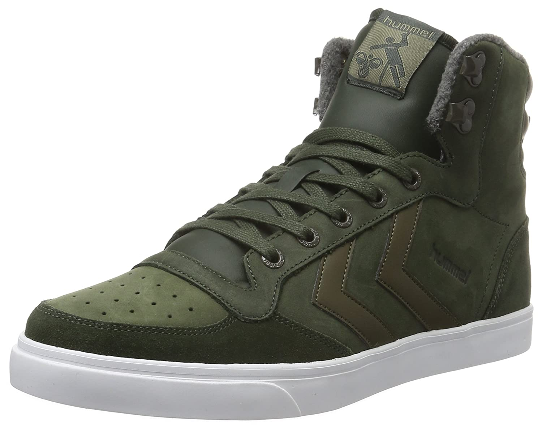 Hummel Stadil Winter Sneaker, Zapatillas Altas Unisex Adulto 37 EU|Verde (Rosin)