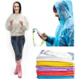 IMPRIE Rain Ponchos for Adults - Rain Gear for Women Waterproof - Disposable Rain Poncho for Theme Parks, Concerts, Camping, Hiking - Emergency Rain Coats for Women