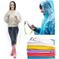 Rain Poncho for Women and Men - (10 Pack) Rain Coat with Drawstring Hood Waterproof Lightweight Rain Gear for Theme Parks Travel Festival Outdoor Activities Emergency Disposable Rain Ponchos