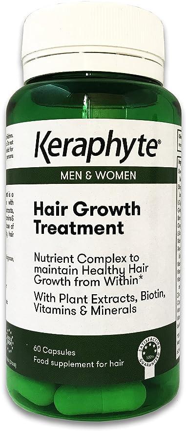 Keraphyte - Tratamiento Anticaída y Crecimiento del Cabello | con Extractos de Plantas Vitaminas y Minerales