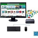 "ASUS Celeron Chromebox and 24"" Full HD Monitor with ChromeOS Keyboard Mouse Bundle Kit"