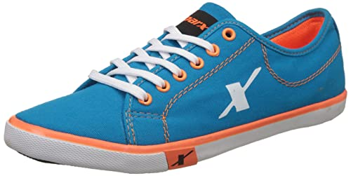 61e2123cab Sparx Men's Blue, Turkey and Orange Canvas Sneakers - 10 UK/India (44