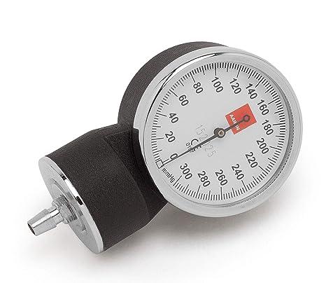 Manómetro AARON® para tensiómetro aneroide. Acabado de primera calidad con caja de acero. Calibrado | Color negro.: Amazon.es: Salud y cuidado personal