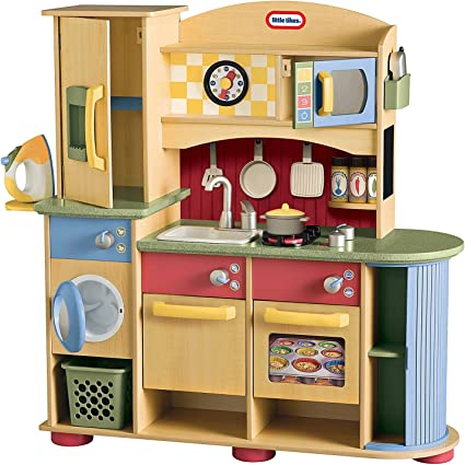Amazon.com: Little Tikes Deluxe Wooden Kitchen and Laundry ...