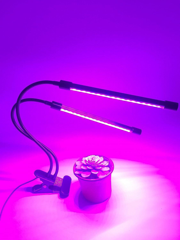 Hyindoor Led Plante Lampe Double Tete 18w Lampe D Interieur Pour