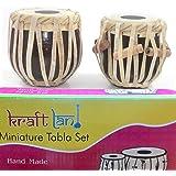 Back2Joy Kraftland Hand Made Miniature Tabla Set - (Mini Tabla Size 4 Inch) With Tabla Box
