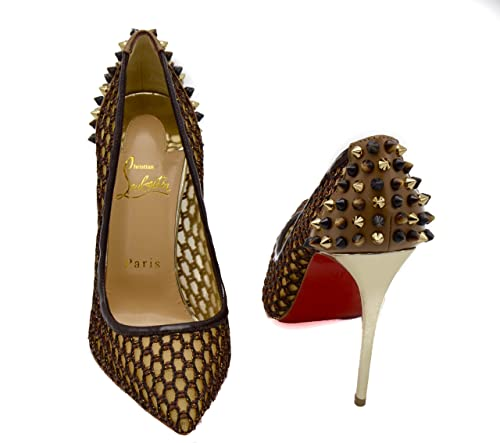 new arrival b00ec baf58 Christian Louboutin Black Brown Mesh Guni Pump 100MM pump ...