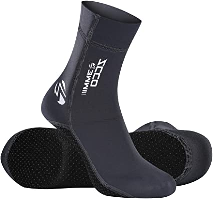 2 Colors 4 Sizes Hook and Loop Anti-Slip Diving Boots Water Sports Socks for Swimming Beach Activities Swimming Socks