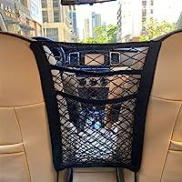 $20 » MBVBN 3-Layer Car Mesh Organizer, Seat Back Net Bag, Barrier of Backseat Pet Kids, Cargo…
