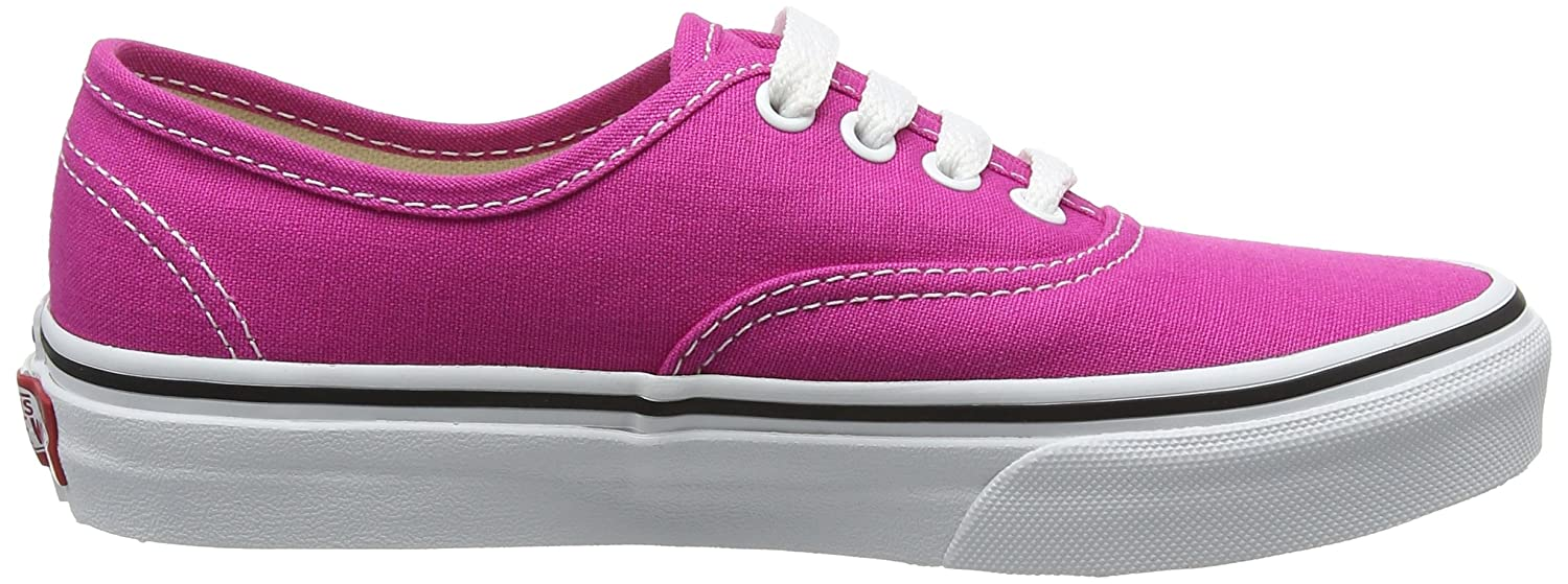 Vans Unisex Authentic (Canvas) Sneakers for Unisex Vans Kids in Classic Colors, Stylish Prints and Fashionable Designs B01N5FTZNC 11 Little Kid M|Very Berry/True White 499789