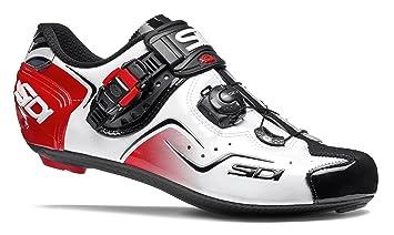 Sidi Road Kaos Zapatos de ciclista, color blanco/negro/rojo ...