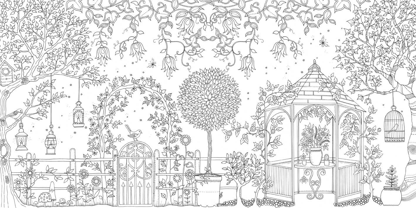 Secret Garden An Inky Treasure Hunt And Coloring Book Johanna Basford 9781780671062 Books