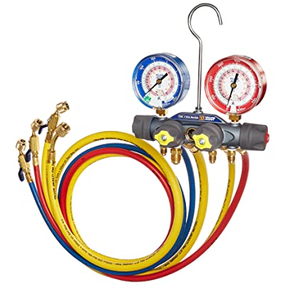Yellow Jacket 49968 Charging Manifold,,Red/Blue: Industrial & Scientific