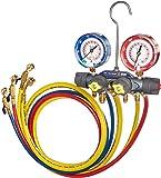 Yellow Jacket 49968 Charging Manifold,,Red/Blue