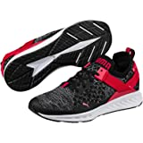 PUMA Men's Ignite Evoknit Lo, Black- White-Toreador, Running Shoes