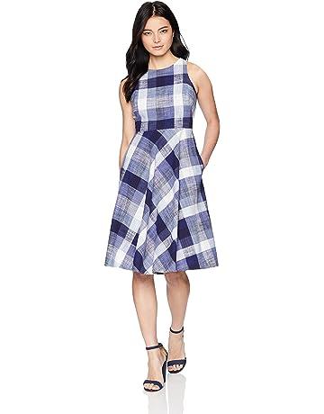 77fe32b625c Eliza J Women s Petite Sleeveless Fit and Flare Dress