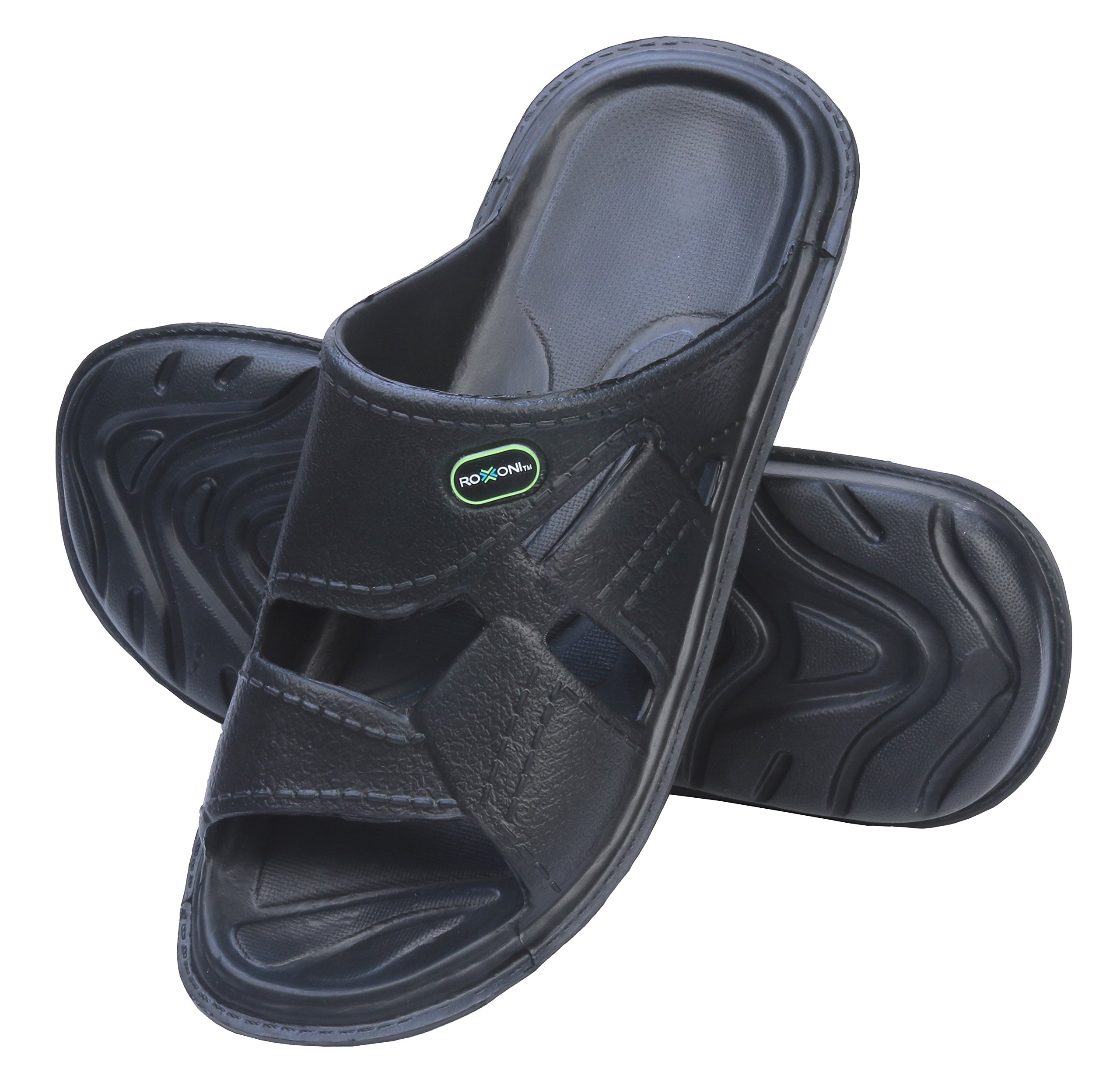 ROXONI Men's Comfortable Lightweight Slide Sandals; Great for Indoor and Outdoor Use
