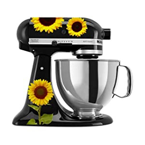 Watercolor Sunflowers Printed Mixer Decal Set (Print)