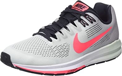 Nike W Air Zoom Structure 21, Zapatillas de Running para Mujer, Gris (Atmosphere Grey/Hot Punch/Bare 009), 36 EU: Amazon.es: Zapatos y complementos