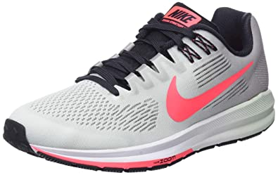 02ccc08460b98 Nike Women s W Air Zoom Structure 21 Running Shoes Atmosphere Grey Hot  Punch Bare