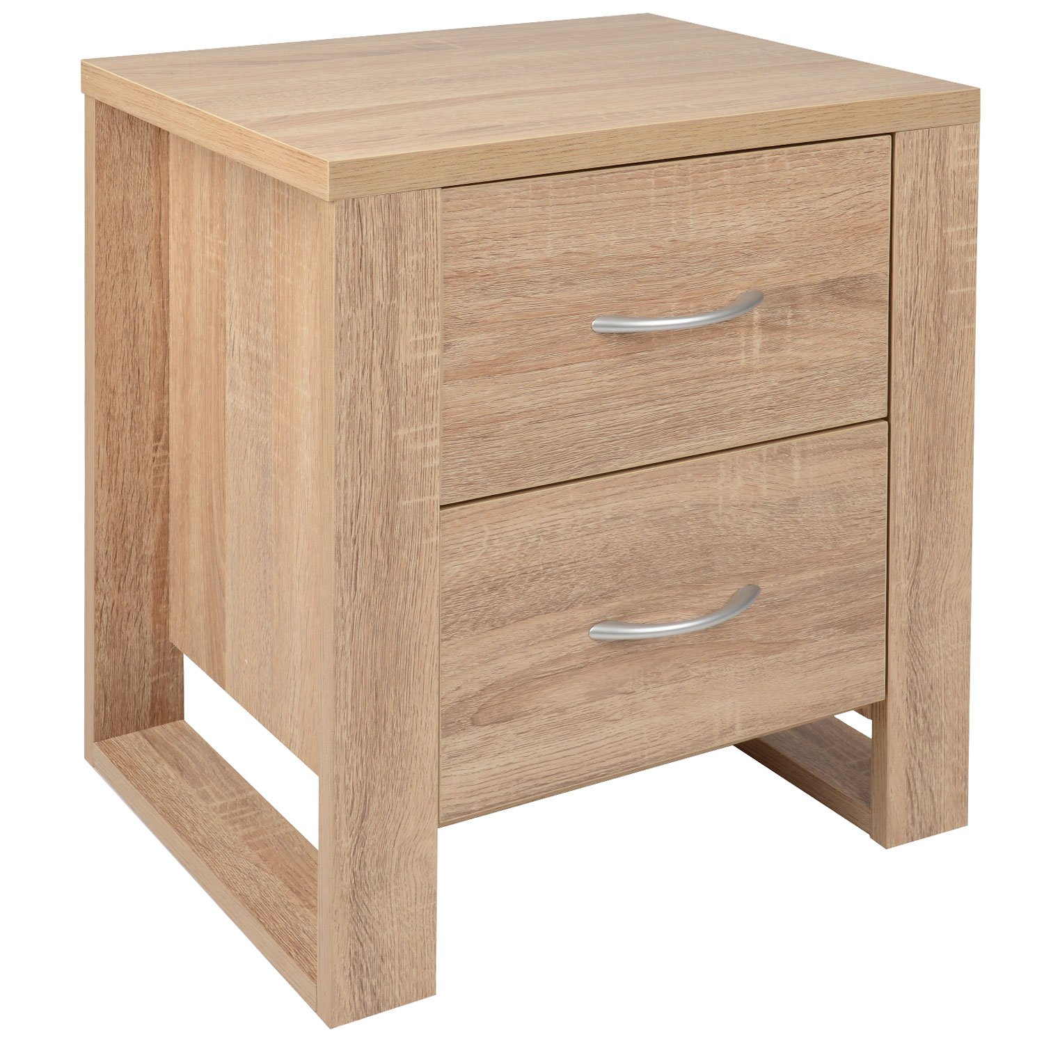 Christow Oak Effect 2 Drawer Bedside Table Bedroom Cabinet Nightstand H54cm Amazon.co.uk Kitchen u0026 Home  sc 1 st  Amazon UK & Christow Oak Effect 2 Drawer Bedside Table Bedroom Cabinet ...
