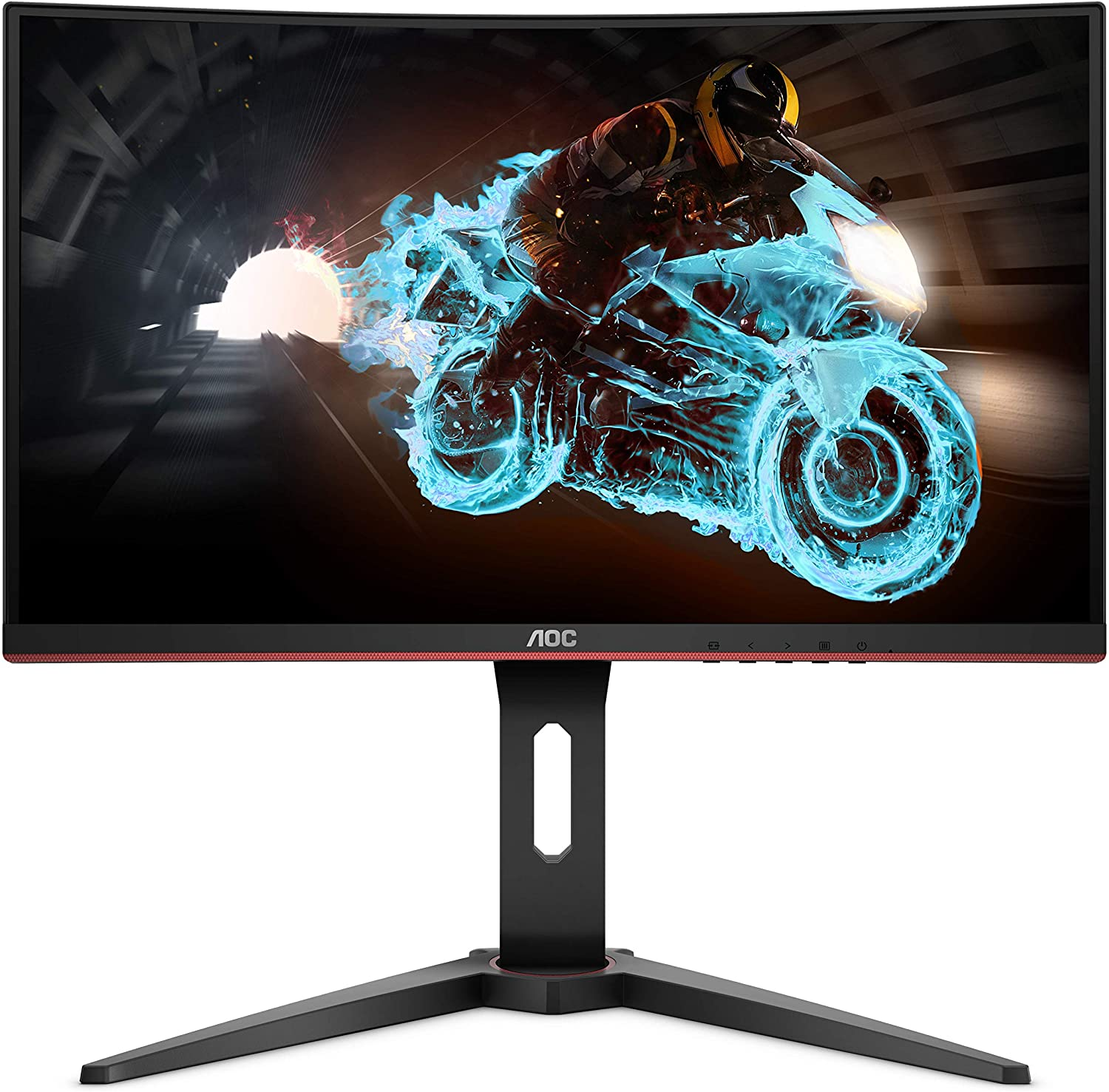 "AOC C24G1A 24"" Curved Frameless Gaming Monitor, FHD 1920x1080, 1500R, VA, 1ms MPRT, 165Hz (144Hz supported), FreeSync Premium, Height adjustable"